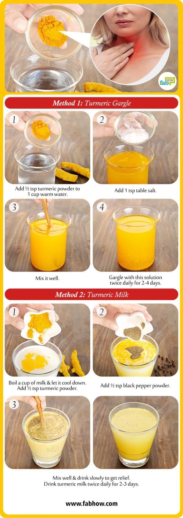 How to Use Turmeric for Sore Throat Summary