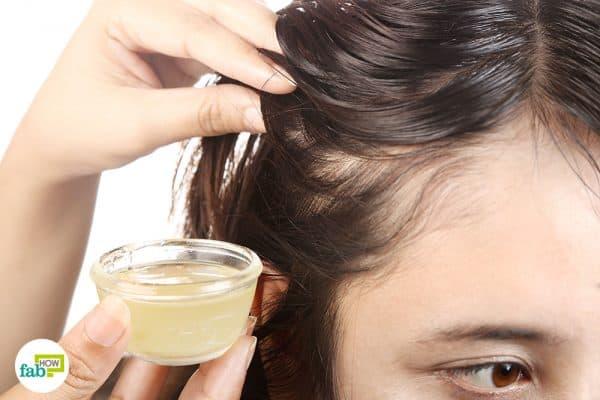 Use castor oil for hair growth