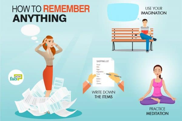 Steps you can follow to remember anything