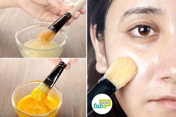 intro make egg white face mask