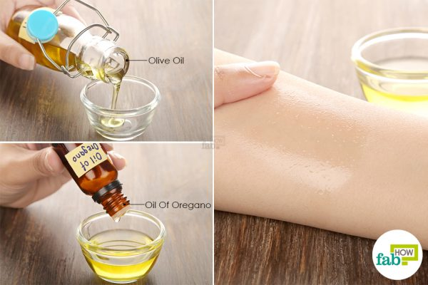 Combine olive oil and oil of oregano to get rid of cellulitis