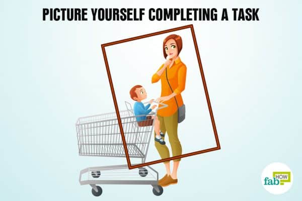 picture yourself completing a task to remember anything