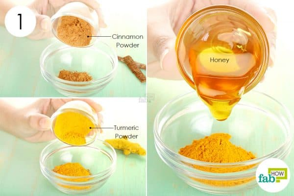 combine cinnamon, honey and turmeric to use cinnamon for acne
