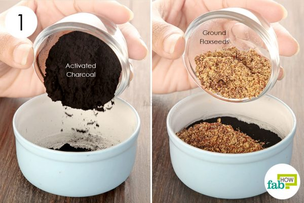 Take activated charcoal and ground flaxseeds to get rid of cellulitis