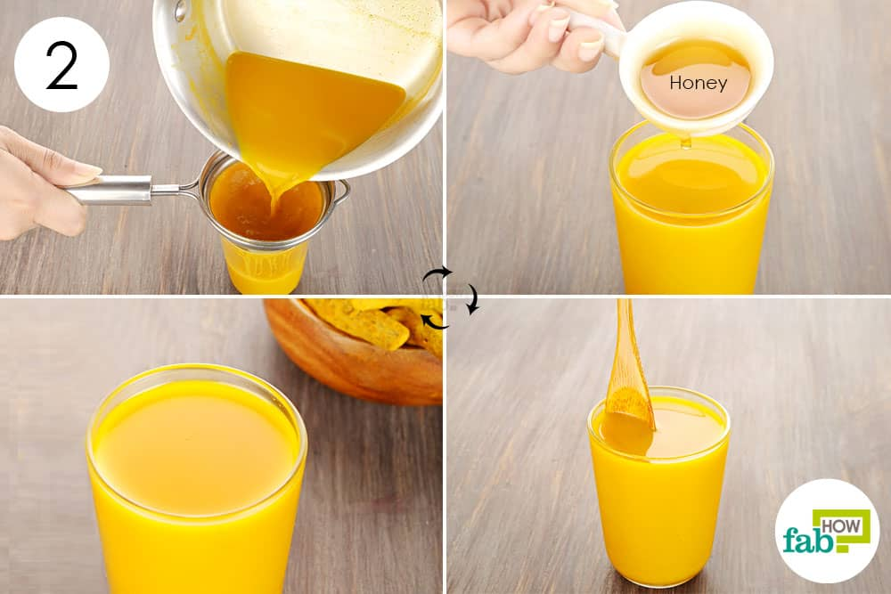 Use turmeric for health-add honey and drink to get relief from a sore throat