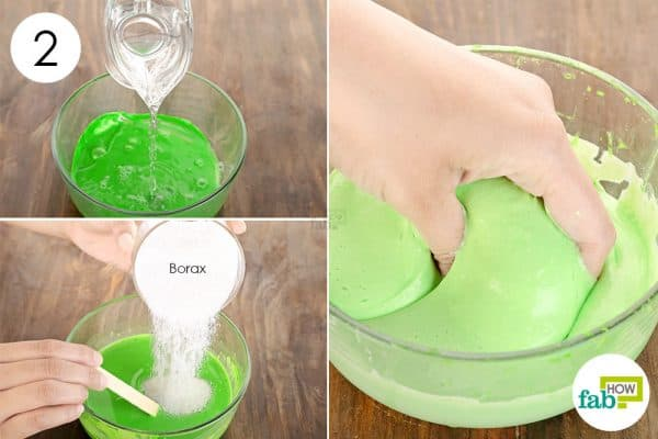 Add water and use borax to make slime