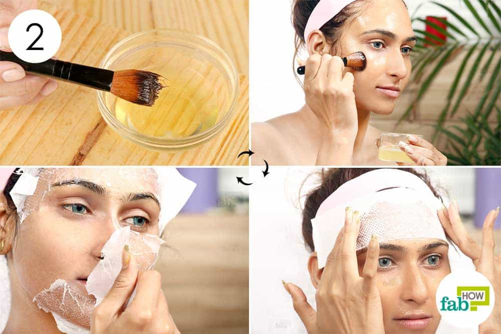 Best 6 diy egg white face masks to fix all skin problems fab how apply the egg white and cover it with paper towel to make egg white face mask solutioingenieria Images