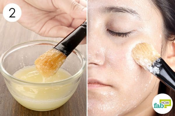 Whisk well and apply egg white face mask