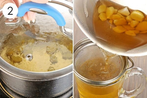 Let the mix simmer to use ginger for cold or flu