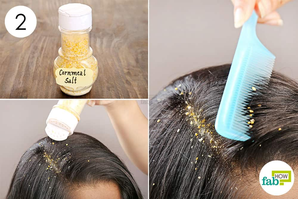 Sprinkle the mix on your scalp to make diy dry shampoo