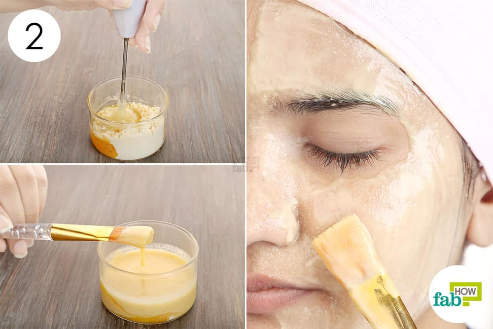 Blend thoroughly and apply to get clear- acne-free skin