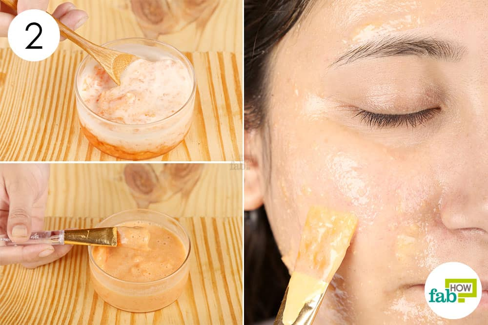 Apply papaya face mask for glowing skin