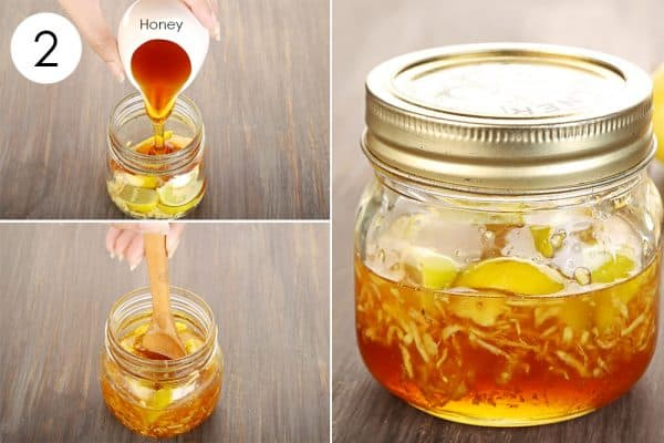 Add honey and consume to use ginger for cold and flu