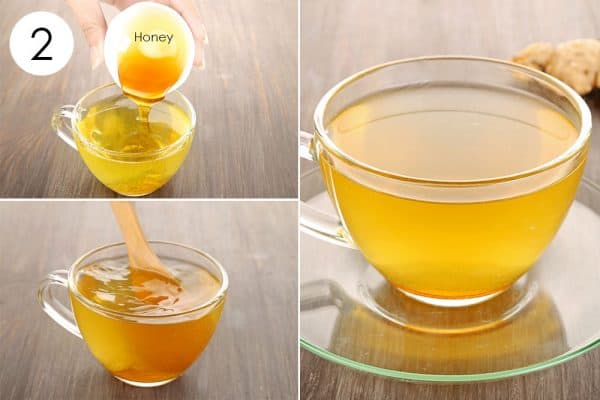 Add in honey and drink to use ginger for cold or flu