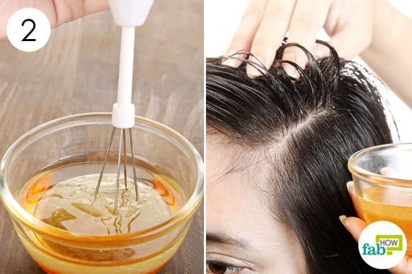 Blend well and massage it into your scalp and hair length to use castor oil for hair growth