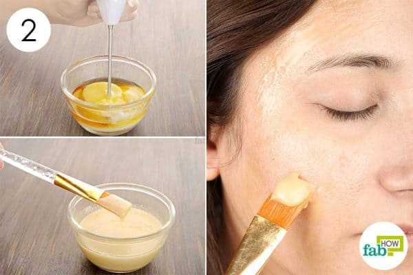Apply the olive oil-baking soda mask for glowing skin