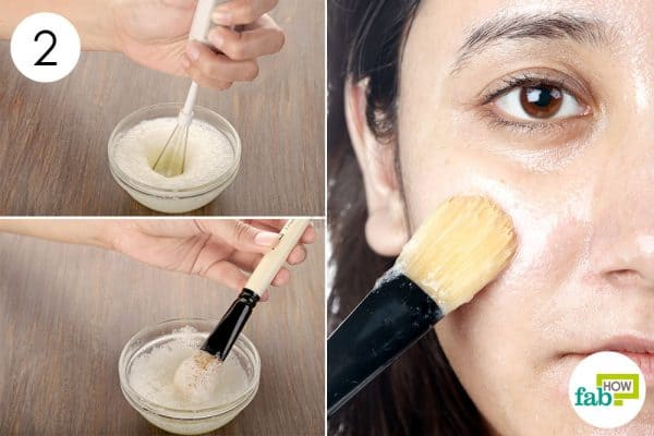 Whisk it well and apply to make egg white face mask