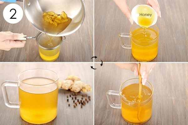 Strain it out and add honey to use ginger for cold and flu