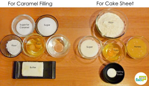things you'll need to make layered honey cake