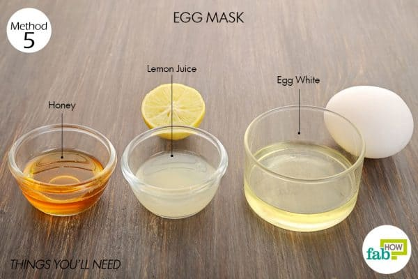 Things needed to make egg mask for glowing skin