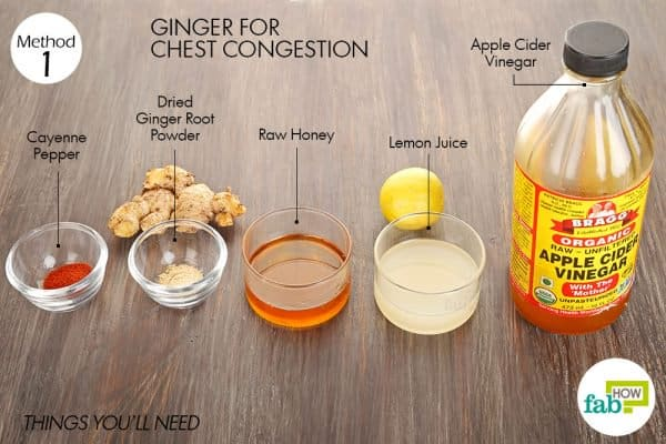 things you'll need to use ginger for cold or flu and congestion