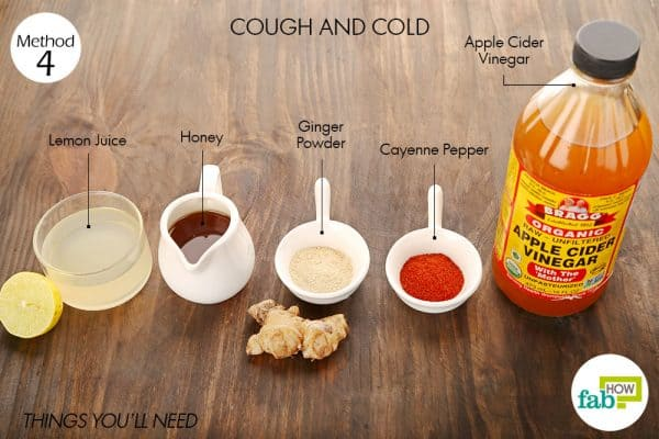 Things needed to use cayenne pepper for cough and cold