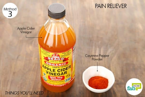 Things needed to use cayenne pepper for pain relief