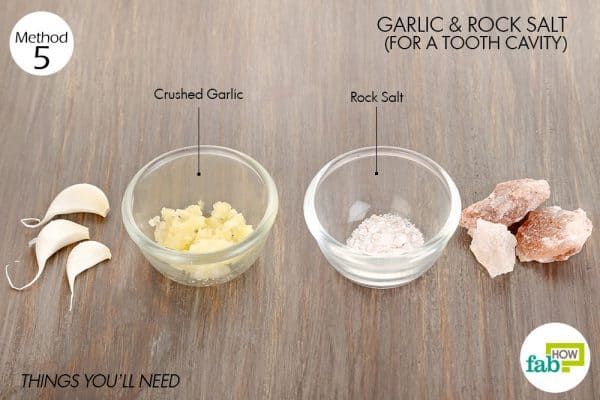 Things needed to heal cavities using garlic for tooth-related troubles