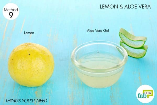 Things needed to use lemon for acne with aloe vera