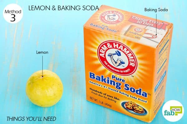 Things needed to use lemon for acne with baking soda