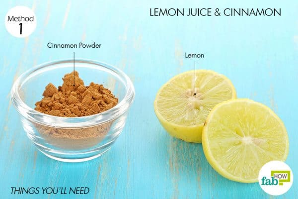 Things needed to use lemon for acne with cinnamon
