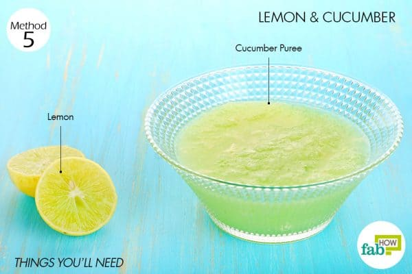 Things needed to use lemon for acne with cucumber
