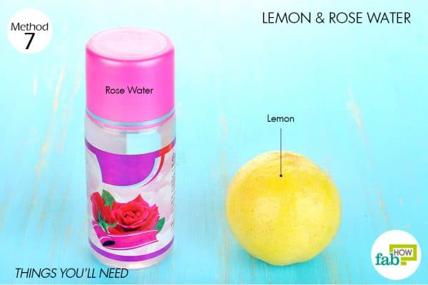 Things needed to use lemon for acne with rose water