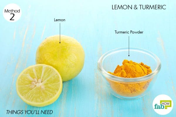 Things needed to use lemon for acne with turmeric