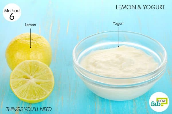 Things needed to use lemon for acne with yogurt