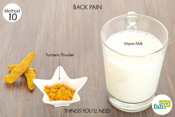 Things needed to use turmeric for health-to treat back pain