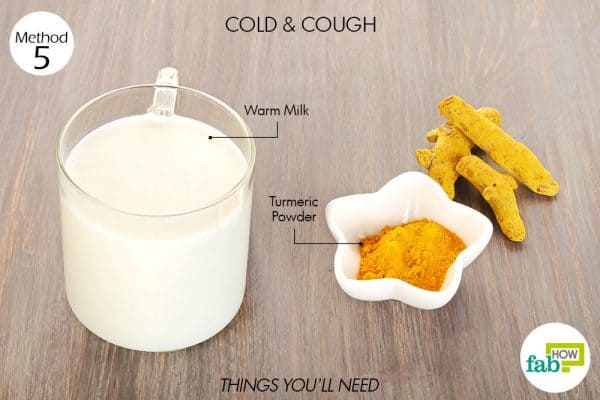 Things needed to use turmeric for health-to treat cold and cough