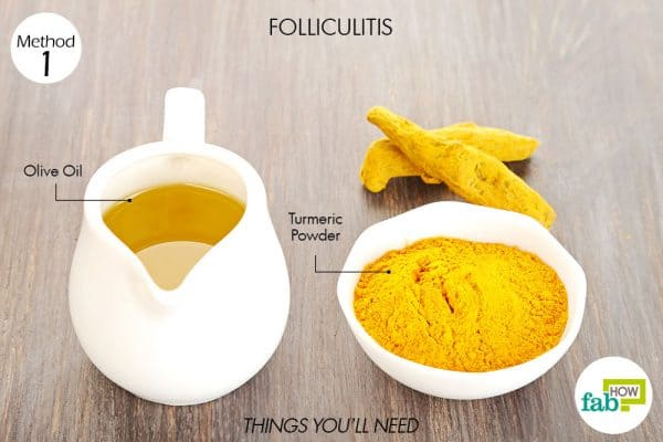 Things needed to use turmeric for health-to treat folliculitis