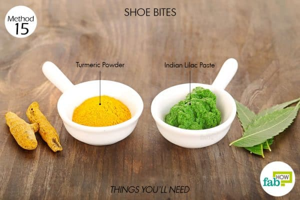 Things needed to use turmeric for health-to treat shoe bite