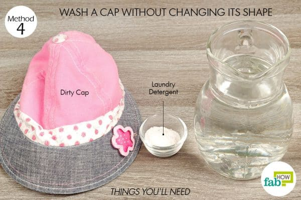 things you'll need for laundry hack to clean cap