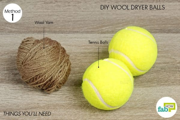 things you'll need for laundry hack to make wool dryer balls