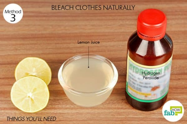things you'll need for laundry hack to make fabric bleach