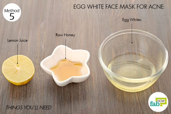 Things you'll need to make egg white face mask for acne