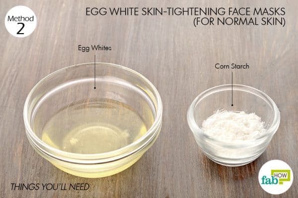 things you'll need to make egg white face mask for normal skin