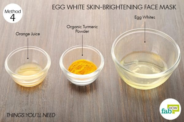 things you'll need to make egg white face mask for skin brightening