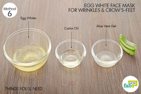 things you'll need to make egg white face mask for wrinkles