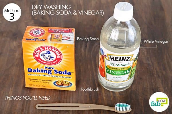 things you'll need to clean stuffed toys with baking soda and vinegar