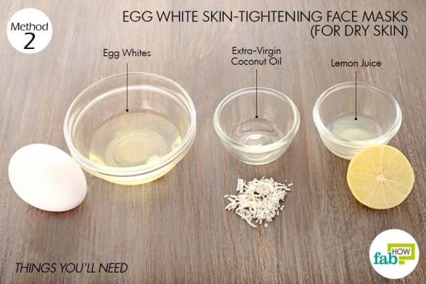 Things you'll need to make egg white face mask for dry skin