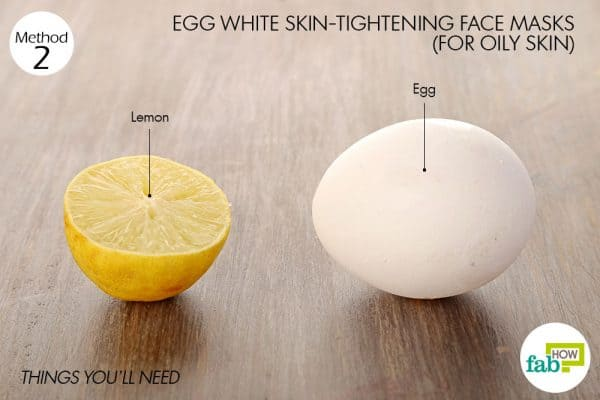 Things you'll need to make egg white face mask for oily skin