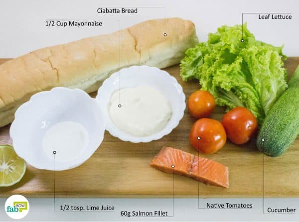 things you'll need to make salmon sandwich